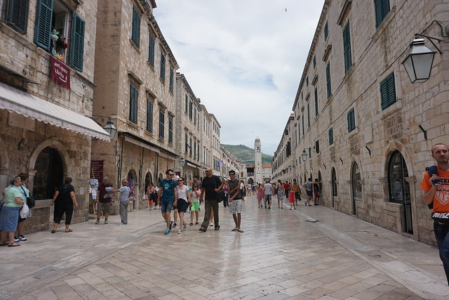 St Dominika Street and Stradun, Dubrovnik