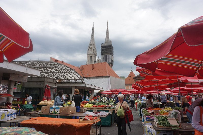 local market in zagreb